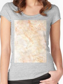 Orange Paint Background 7 Women's Fitted Scoop T-Shirt
