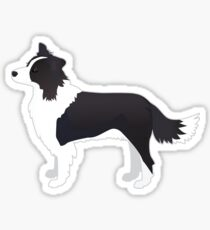 Border Collie Black Dog Breed Illustration Silhouette Sticker