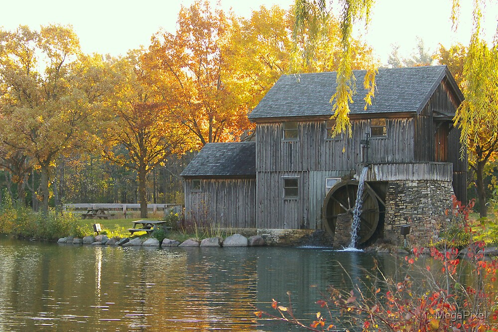 Mill Pond at Rockford, IL. by MegaPixel
