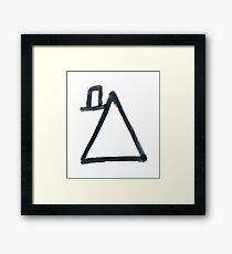Hobo Sign - 097 - Wealthy Framed Print