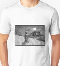 'Barefoot Child, Climb Towards the Moon'  Unisex T-Shirt