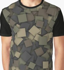 Square camouflage Graphic T-Shirt