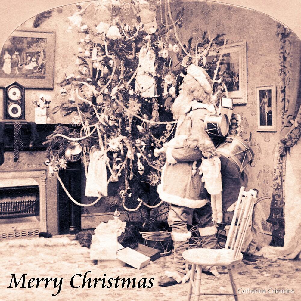 Vintage Santa Card by Catherine Crimmins