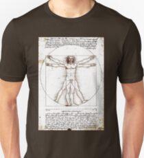 LEONARDO DA VINCI: Ancient Vetruvian Man Print Unisex T-Shirt