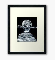 Misty Mountain Moon Shine Framed Print