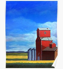 Standing Tall - rural countryside farm landscape Poster