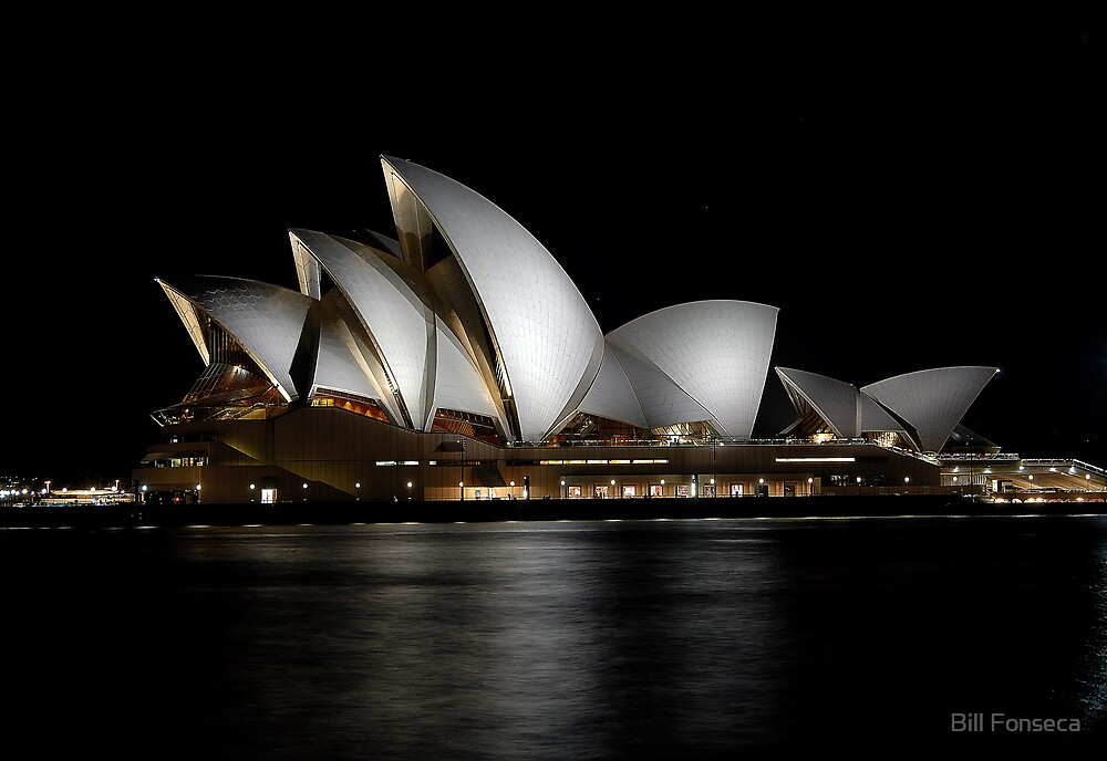 Sydney Opera House by Night by Bill Fonseca