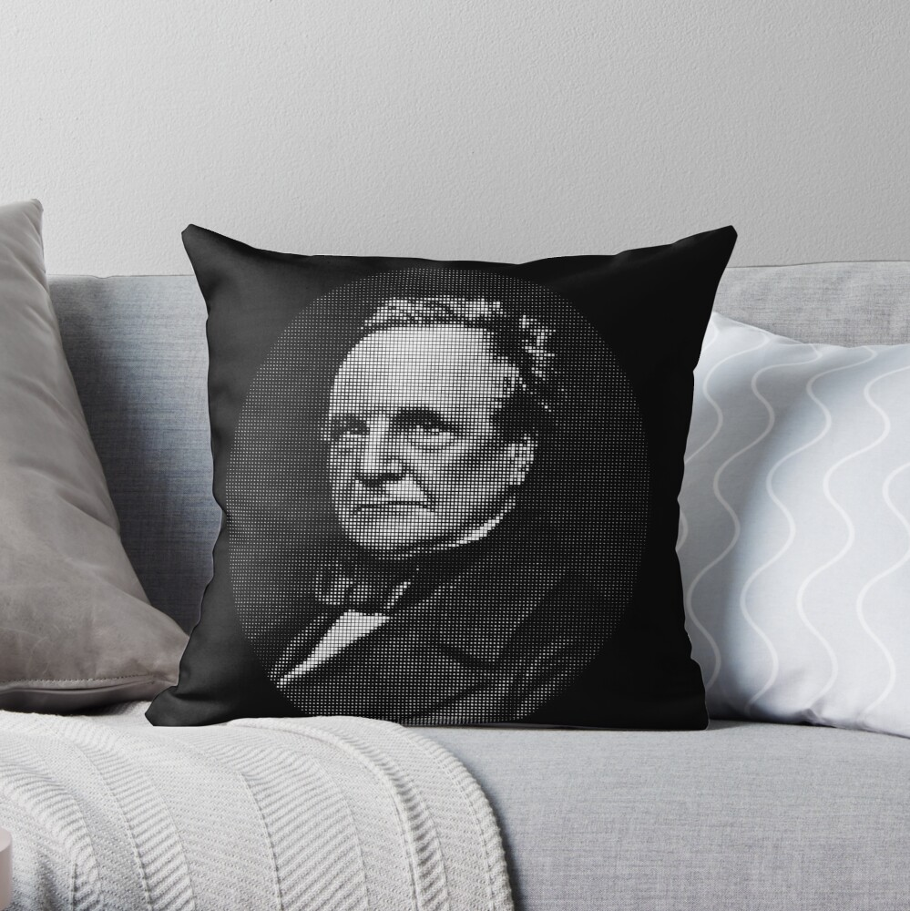 Charles Babbage Throw Pillow
