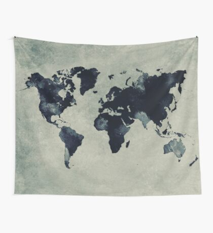 world map 60 Wall Tapestry