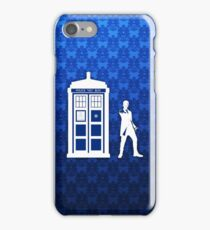 Tardis And The Doctor iPhone Case/Skin