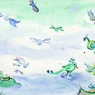 Wading Floating and Flying through spring von ansho