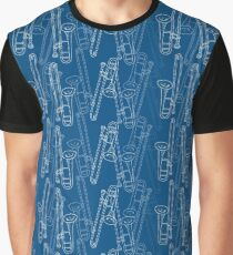 Trombone Slide Into Madness! Musical Seamless Pattern Graphic T-Shirt