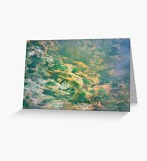 Fishless Reef (Serpentine Verdite) Greeting Card