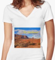 American Southwest Women's Fitted V-Neck T-Shirt