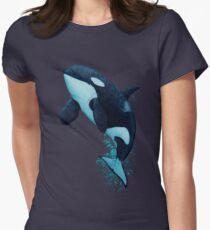 """The Matriarch"" by Amber Marine ~ killer whale / orca watercolor painting, (J2 Granny) art © 2016 T-Shirt"
