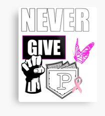 never give up colon cancer shirt Metal Print