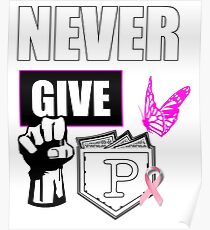 never give up colon cancer shirt Poster
