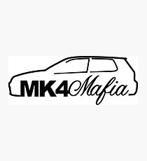 Mk4 Mafia for VW mk4 Golf GTi enthusiasts Photographic Print