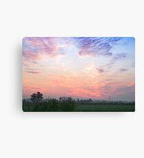 Sunrise in the grassland Canvas Print