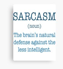 Sarcasm Noun T-Shirt  Canvas Print
