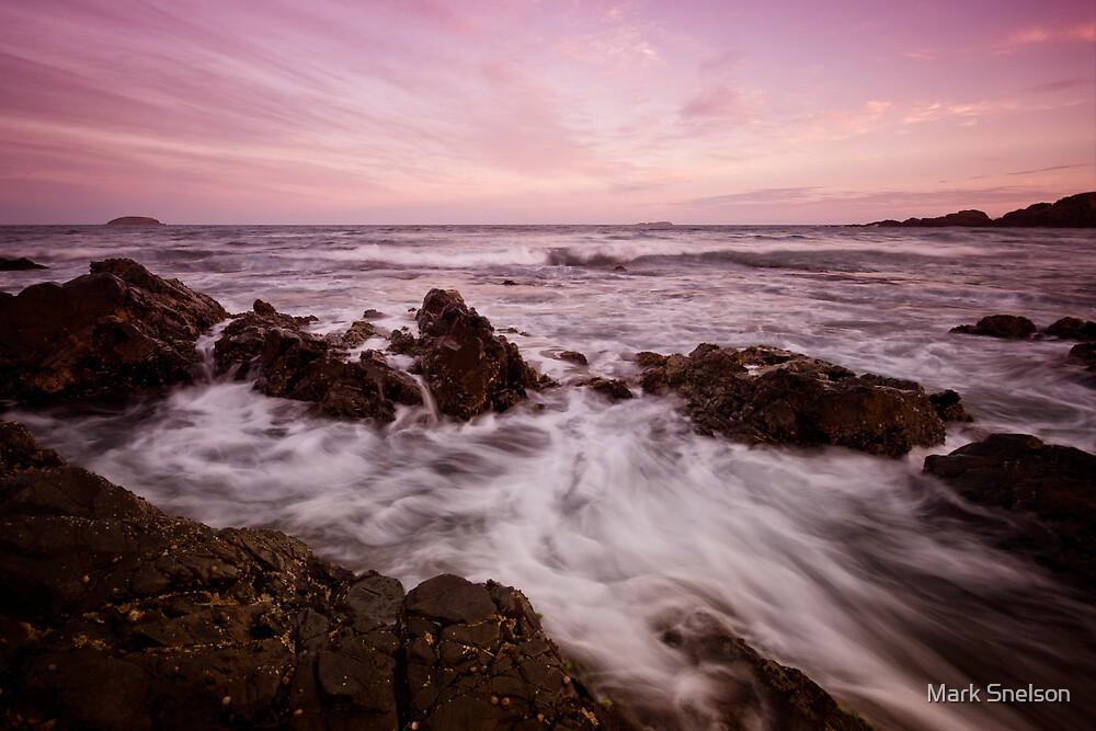 Serenity Beach at Dusk 5 by Mark Snelson