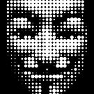 halftone anonymous mask by kislev