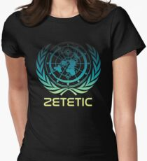 Flat Earth Designs - Zetetic Astronomy ( Flat Earth Map ) Womens Fitted T-Shirt