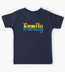 Rainbow Family Gay / lesbian Interest - from Bent Sentiments Kids Tee