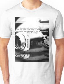Cameras v.s. Guns 2 Unisex T-Shirt