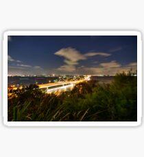 Narrows bridge to South Perth at night Sticker