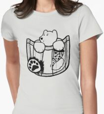 Pocket Bear - Centered Womens Fitted T-Shirt