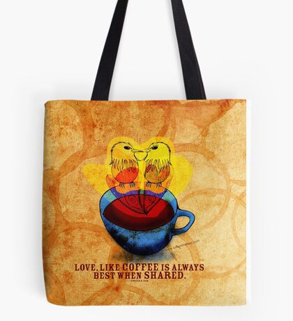 What my #Coffee says to me - Nov 7, 2012 Pillow Tote Bag