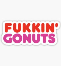 Fukking Gonuts - No GMO Sticker