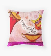 What my #Coffee says to me - Feb 26, 2014 Pillow Throw Pillow