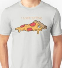 I love eating pizza - love pizza Unisex T-Shirt