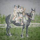 horseback riding by angel strehlen