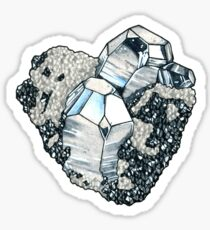 Hematite Crystal Cluster Sticker