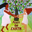 Girls Dancing: Peace On Earth by Pamela Spiro Wagner