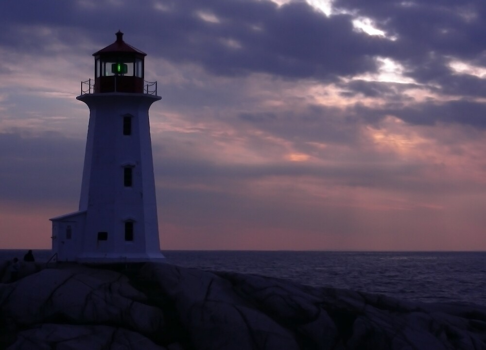 Peggy's Cove  Pink and Blue by Geoffrey