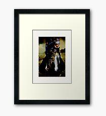 penguin Diva - midnight burn Framed Print