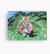 Countryside Cow Canvas Print