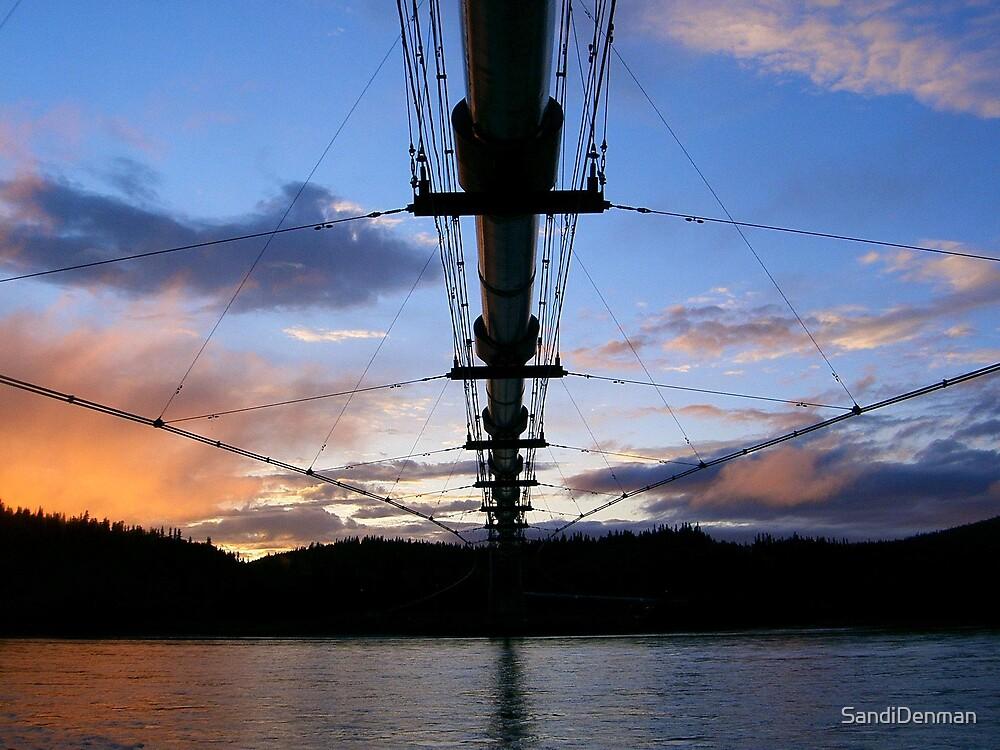 Alaska Pipeline over the Tanana River by SandiDenman