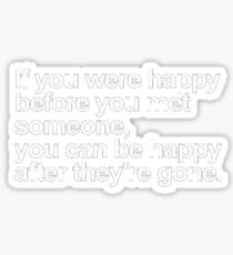 Happy Before Meet Someone Sticker