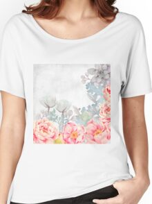 Early Morning with Roses and all Flowers Women's Relaxed Fit T-Shirt