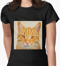 Beautiful ginger cat Womens Fitted T-Shirt