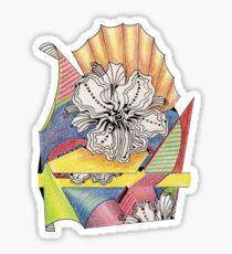 Flower Drawing Sticker
