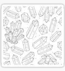 Crystals pattern black and white Sticker