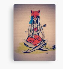 Fox Thoughts Canvas Print