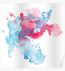 Abstract Watercolour Splash Poster