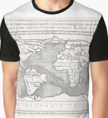 Antique Map - Kircher's Global Hydrological and Volcanological Map (1665) Graphic T-Shirt